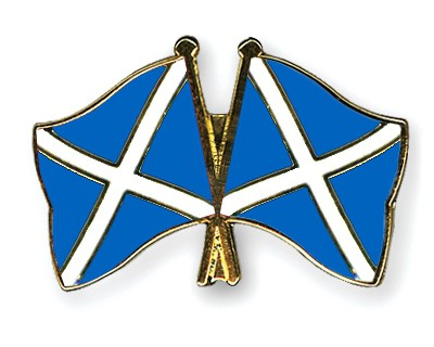 Crossed Flag Pins Scotland-Scotland