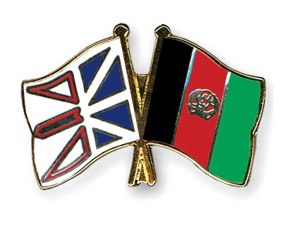 Crossed Flag Pins Newfoundland-and-Labrador-Afghanistan