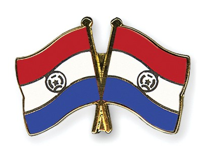Crossed Flag Pins Paraguay-Paraguay