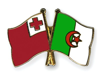 Crossed Flag Pins Tonga-Algeria