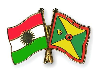Crossed Flag Pins Kurdistan-Grenada