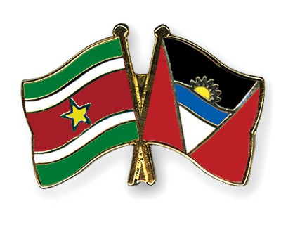 Crossed Flag Pins Suriname-Antigua-and-Barbuda