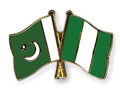 Crossed Flag Pins Pakistan-Nigeria