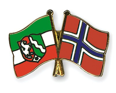 Crossed Flag Pins North-Rhine-Westphalia-Norway