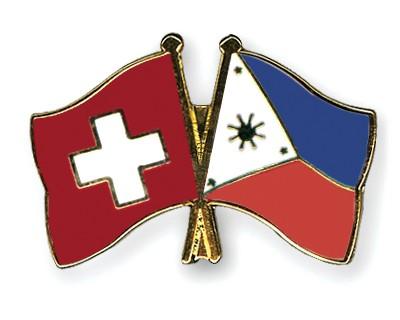 Crossed Flag Pins Switzerland-Philippines