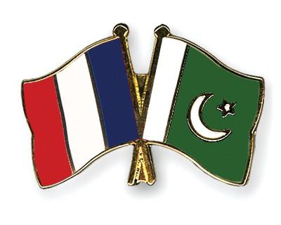 Crossed Flag Pins France-Pakistan