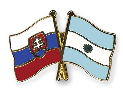 Crossed Flag Pins Slovakia-Argentina