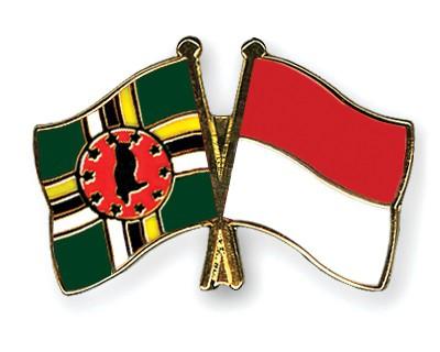 Crossed Flag Pins Dominica-Monaco