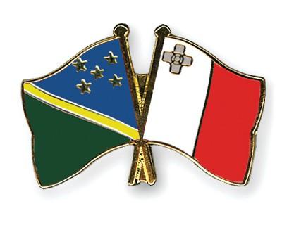 Crossed Flag Pins Solomon-Islands-Malta