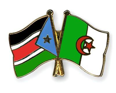 Crossed Flag Pins South-Sudan-Algeria