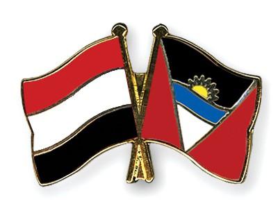 Crossed Flag Pins Yemen-Antigua-and-Barbuda