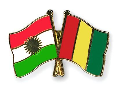 Crossed Flag Pins Kurdistan-Guinea