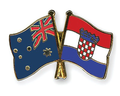 Special Offer Crossed Flag Pins Australia-Croatia