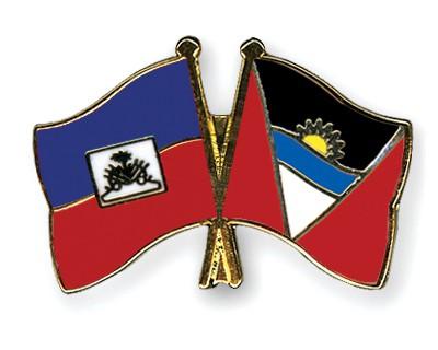 Crossed Flag Pins Haiti-Antigua-and-Barbuda