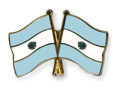Crossed Flag Pins Argentina-Argentina