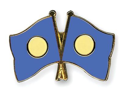 Crossed Flag Pins Palau-Palau