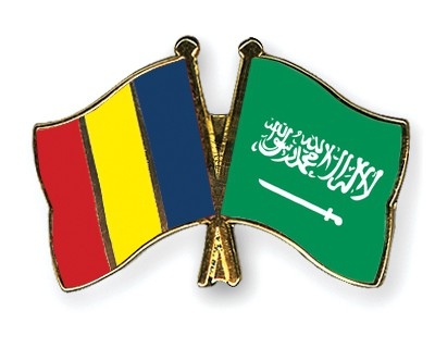 Special Offer Crossed Flag Pins Romania-Saudi-Arabia