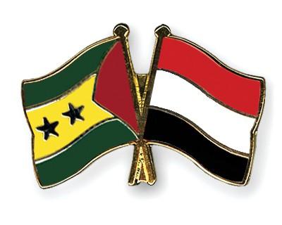 Crossed Flag Pins Sao-Tome-and-Principe-Yemen