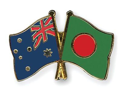 Crossed Flag Pins Australia-Bangladesh
