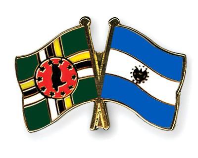 Crossed Flag Pins Dominica-El-Salvador