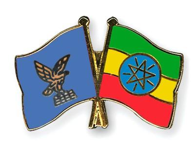 Crossed Flag Pins Friuli-Venezia-Giulia-Ethiopia