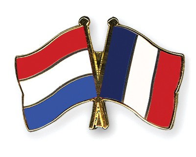 Special Offer Crossed Flag Pins Netherlands-France