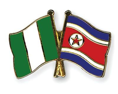 Crossed Flag Pins Nigeria-North-Korea