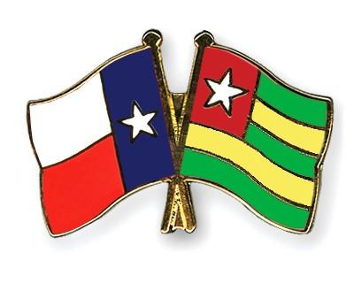 Crossed Flag Pins Texas-Togo