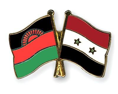 Crossed Flag Pins Malawi-Syria