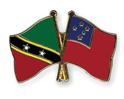 Crossed Flag Pins Saint-Kitts-and-Nevis-Samoa