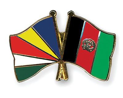 Crossed Flag Pins Seychelles-Afghanistan