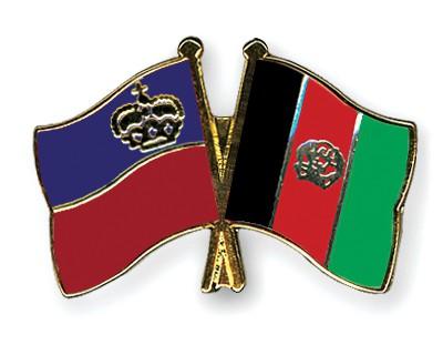 Crossed Flag Pins Liechtenstein-Afghanistan