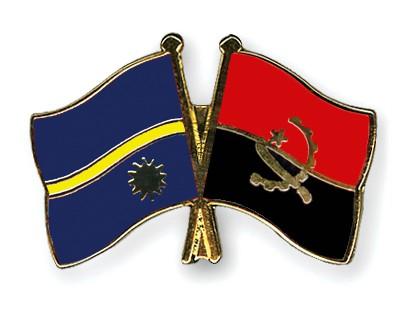 Crossed Flag Pins Nauru-Angola