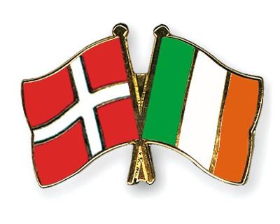 Special Offer Crossed Flag Pins Denmark-Ireland