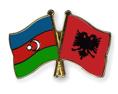Crossed Flag Pins Azerbaijan-Albania
