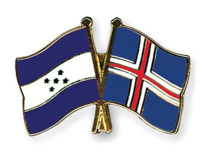 Crossed Flag Pins Honduras-Iceland