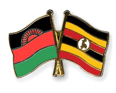 Crossed Flag Pins Malawi-Uganda