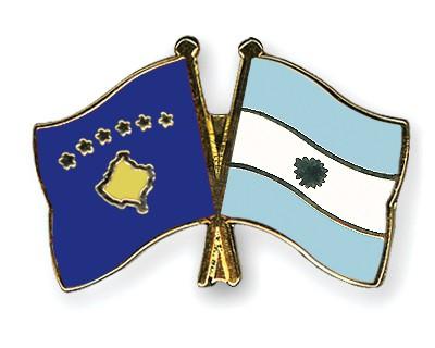 Crossed Flag Pins Kosovo-Argentina