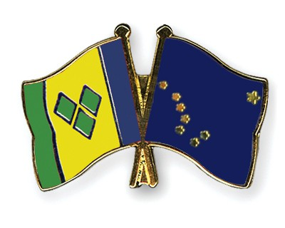 Crossed Flag Pins Saint-Vincent-and-the-Grenadines-Alaska