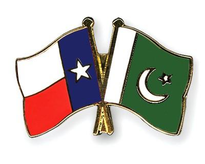 Crossed Flag Pins Texas-Pakistan