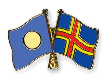 Crossed Flag Pins Palau-Aland