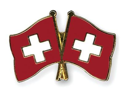Crossed Flag Pins Switzerland-Switzerland