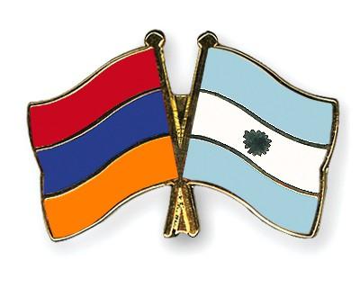 Crossed Flag Pins Armenia-Argentina