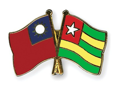 Crossed Flag Pins Taiwan-Togo