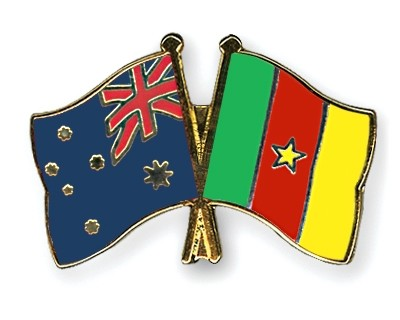 Special Offer Crossed Flag Pins Australia-Cameroon