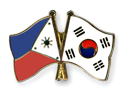 Crossed Flag Pins Philippines-South-Korea