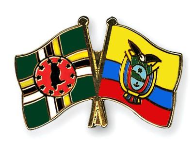 Crossed Flag Pins Dominica-Ecuador
