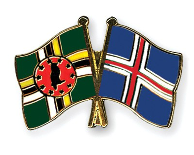 Crossed Flag Pins Dominica-Iceland