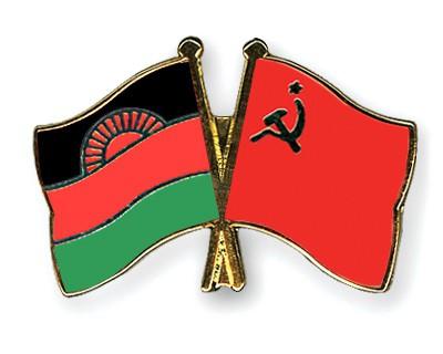 Crossed Flag Pins Malawi-USSR