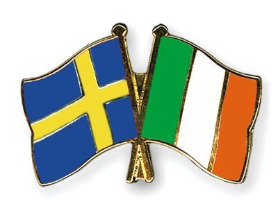 Special Offer Crossed Flag Pins Sweden-Ireland